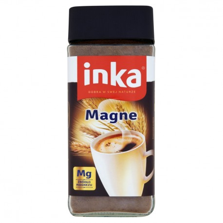 Inka Magne - instant grain coffee drink with magnesium, net weight: 3.53 oz
