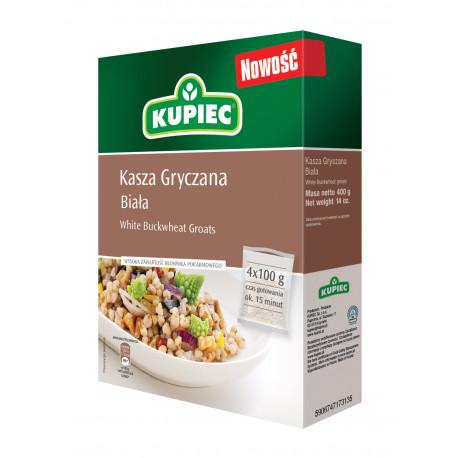 Kupiec - white buckwheat groats, net weight: 4 x 100 g