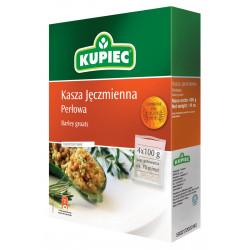 Kupiec - barley groats - box, net weight: 4 x 100 g