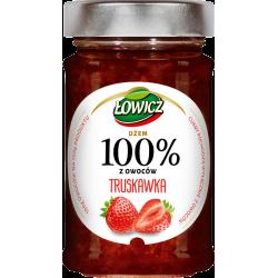 Łowicz - 100% fruit jam, strawberry, net weight: 7.76 oz