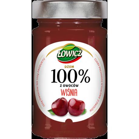 Łowicz - 100% fruit jam, wild cherry, net weight: 7.76 oz