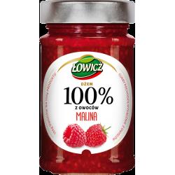 Łowicz - 100% fruit jam, raspberry, net weight: 7.76 oz