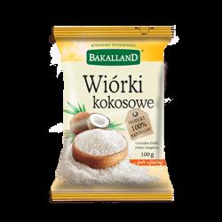 Bakalland - desiccated coconuts, net weight: 100 g