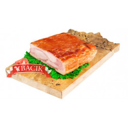 Pressed bacon, net weight: 1 lb