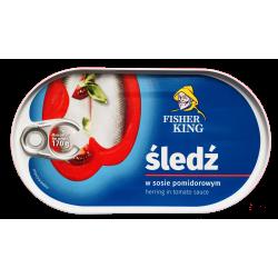 Fisher King - herring in tomato sauce, net weight: 170 g