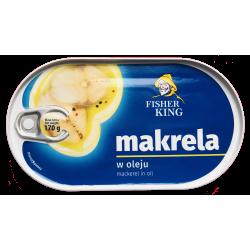 Fisher King - mackerel in oil, net weight: 170 g