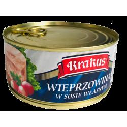 Krakus - pork in natural juices, net weight: 10.5 oz.