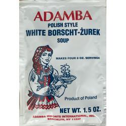 Adamba - Polish Style White Borscht Żurek Soup Mix, net weight: 1.5 oz