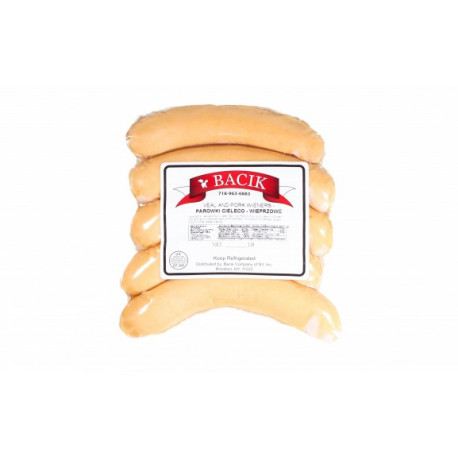 Bacik - veal & pork wieners, net weight: 0.8 lb
