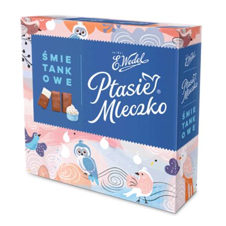 Wedel Ptasie Mleczko - creamy flavor marshmallow in milk chocolate, net weight: 13.4 oz