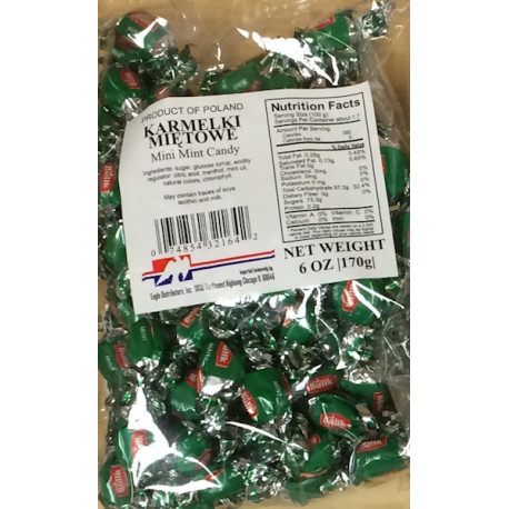 Bulik - mini mint hard candy, net weight: 6 oz
