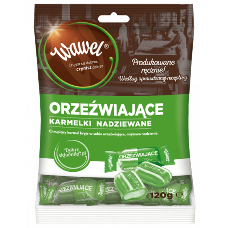 Wawel - caramels with refreshing mint filling, net weight: 4.23 oz