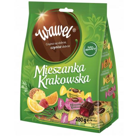 Wawel - fruit jellies in chocolate, net weight: 9.88 oz