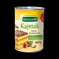 Bakalland - kajmak fudge cream with hazelnut flavor, net weight: 16.22 oz