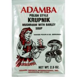 Adamba - Polish Style Krupnik Mushroom with Barley Soup Mix, net weight: 2.5 oz