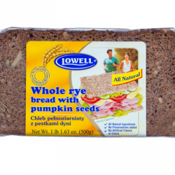 Lowell - whole rye bread with pumpkin seeds, net weight: 17.6 oz