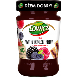 Łowicz - forest fruit jam, reduced sugar, net weight: 9.9 oz
