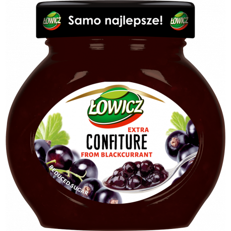 Łowicz - confiture from blackcurrant, reduced sugar, net weight: 8.5 oz