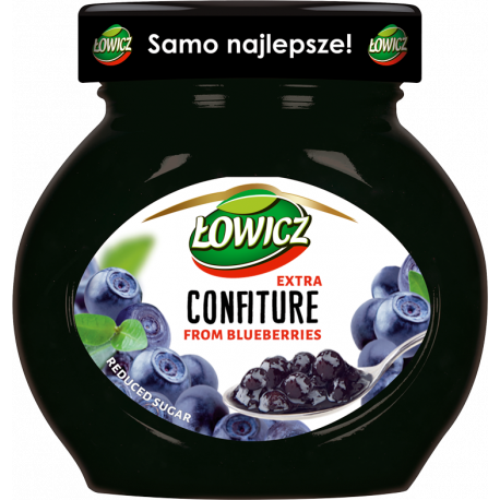 Łowicz - confiture from blueberries, reduced sugar, net weight: 8.5 oz