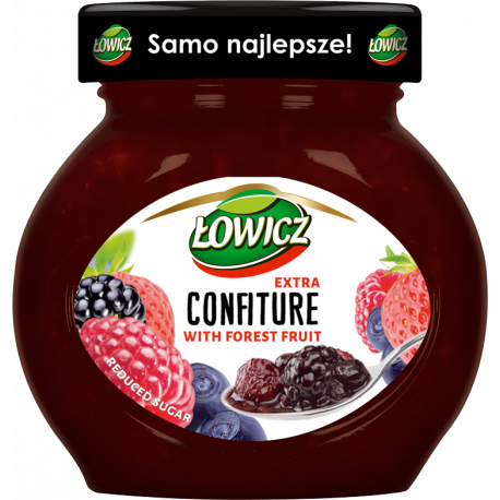 Łowicz - confiture from forest fruits, reduced sugar, net weight: 8.5 oz