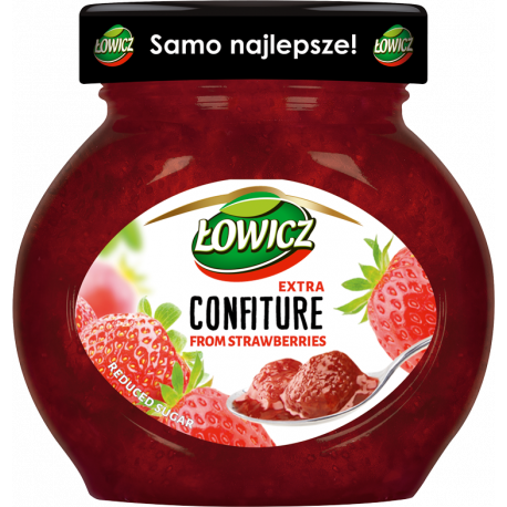 Łowicz - confiture from strawberries, reduced sugar, net weight: 8.5 oz