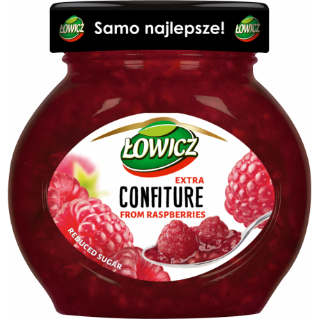 Łowicz - confiture from raspberries, reduced sugar, net weight: 8.5 oz