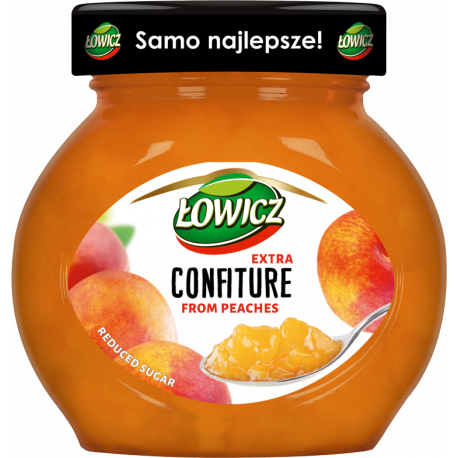 Łowicz - confiture from peaches, reduced sugar, net weight: 8.5 oz