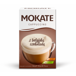 Mokate - Cappuccino, instant coffee, CHOCOLATE, net weight: 5.6 oz (0.7 oz x 8)