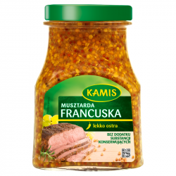 Kamis - French style mustard, net weight: 6.53 oz