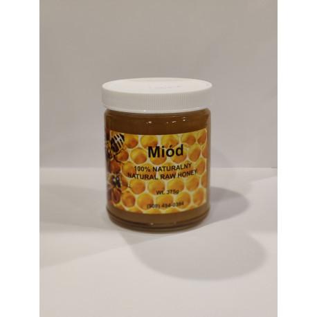 Natural raw honey, net weight: 13.23 oz