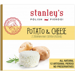 Stanley's Pierogi - potato & cheese, net weight: 14.5 oz