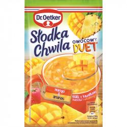 Dr. Oetker - Słodka Chwila Fruit Duet, mango-pineapple soft jelly powder, net weight: 1.13 oz
