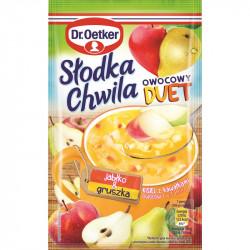 Dr. Oetker - Słodka Chwila Fruit Duet, apple and pear soft jelly powder, net weight: 1.13 oz