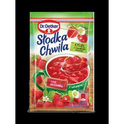 Dr. Oetker - Słodka Chwila, wild strawberry flavor and vitamin C soft jelly powder, net weight: 1.11 oz